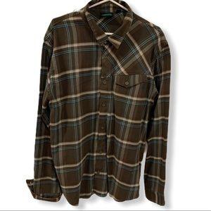 NWOT VANS Plaid Cotton Button-Up